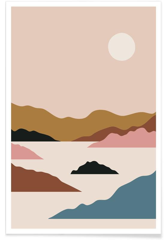Abstract Landscapes, Pastel Peak Poster
