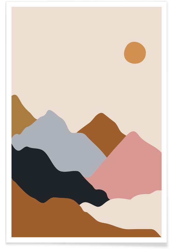 Montagnes, Paysages abstraits, Valley Haze affiche
