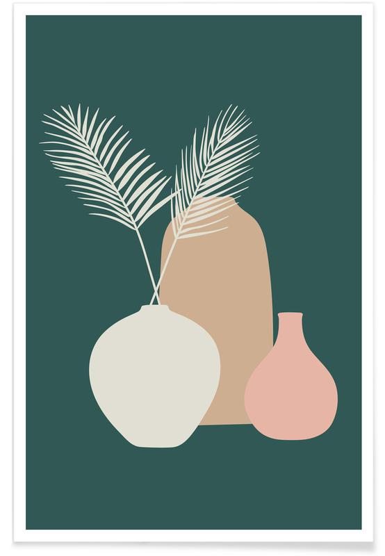 Feuilles & Plantes, Vase II affiche