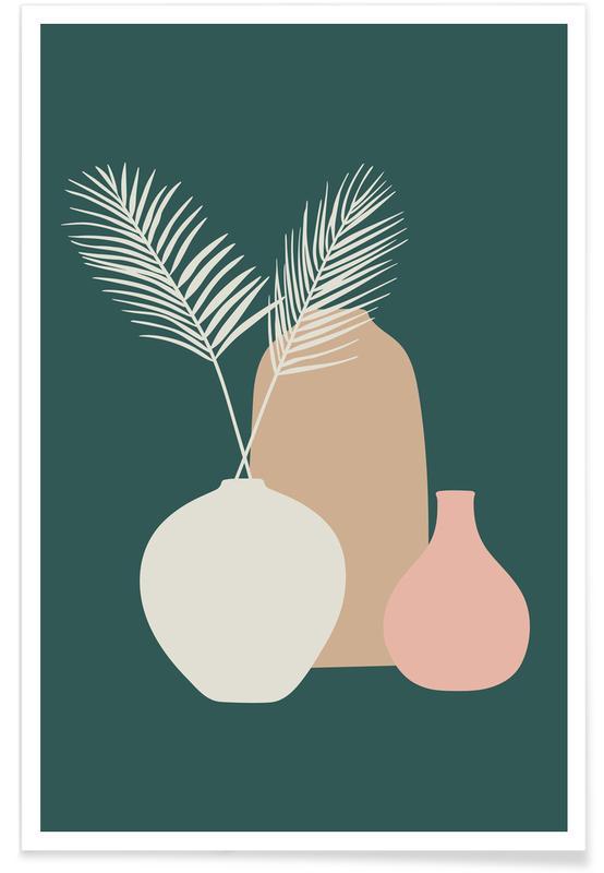 Leaves & Plants, Vase II Poster