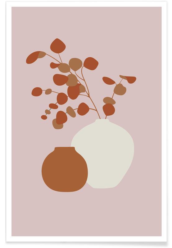 Feuilles & Plantes, Ochre Eucalyptus affiche