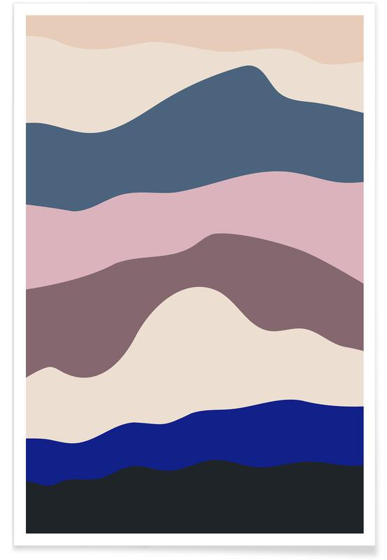 Berge, Blue Progression -Poster
