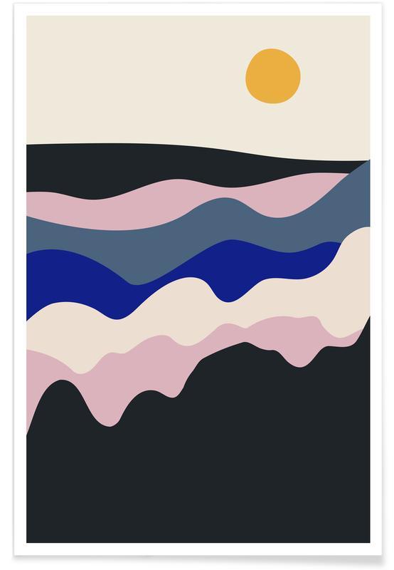 Montagnes, Sunrise affiche