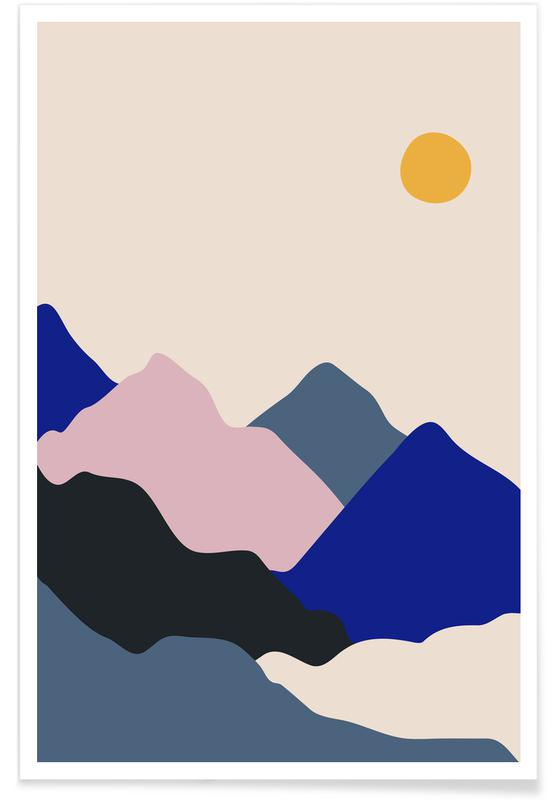 Mountains, Daybreak Poster