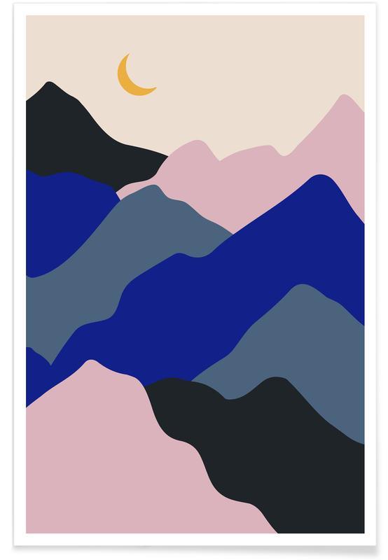 Montagnes, Moonrise affiche