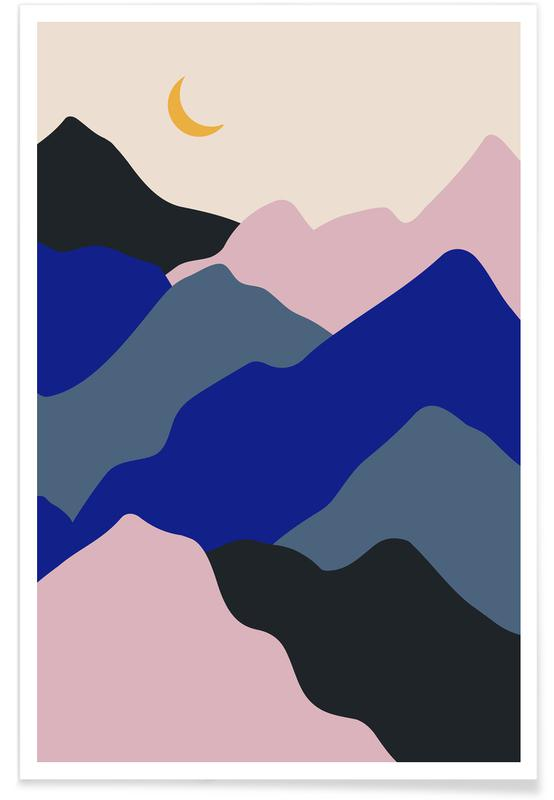 Mountains, Moonrise Poster