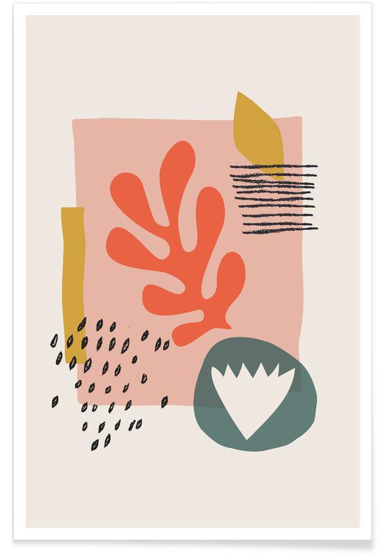 Feuilles & Plantes, Spring II affiche