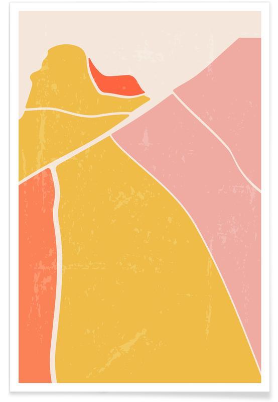 Paysages abstraits, Rice Terraces affiche