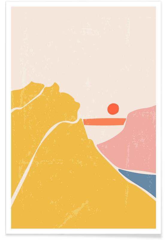 Abstracte landschappen, Where Horizons Meet poster