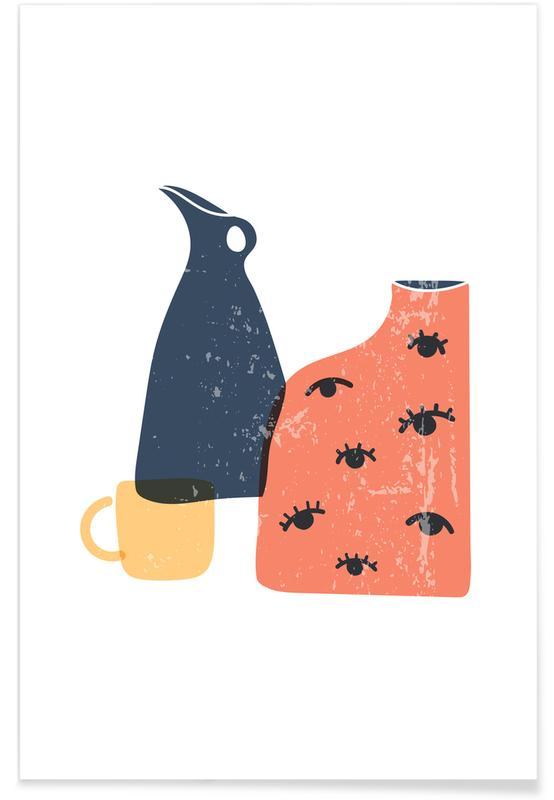 , Terracotta Vases -Poster
