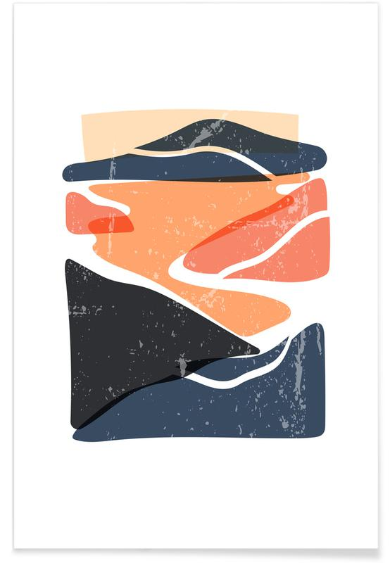 Abstract Landscapes, Winding Paths Poster