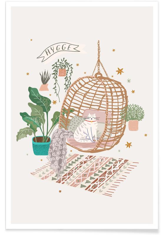 Katzen, The Hygge Cat -Poster
