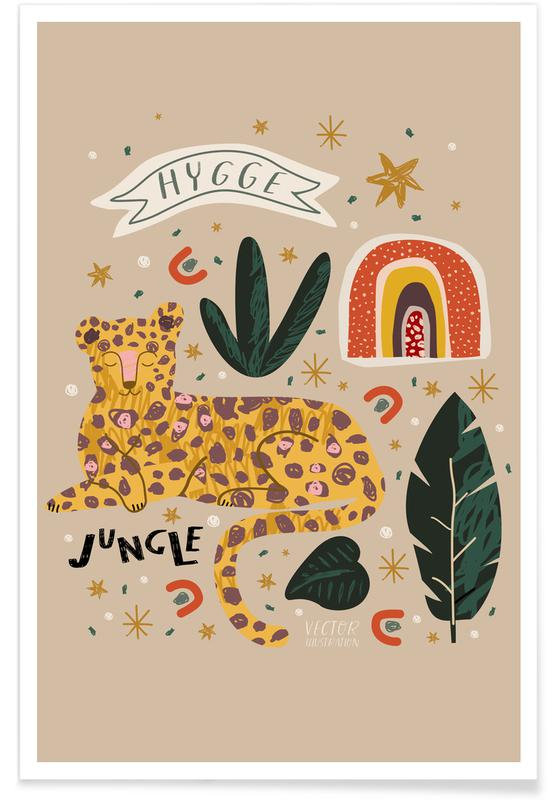Kinderzimmer & Kunst für Kinder, Leoparden, My Head Is A Jungle -Poster