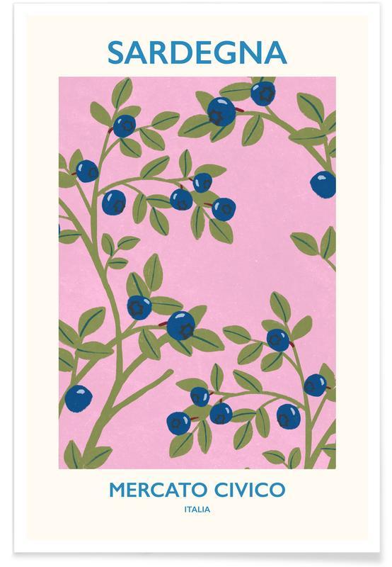 Flower Market, Leaves & Plants, Mercato Civico II Poster