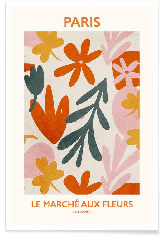 , Le Marché aux Fleurs II -Poster