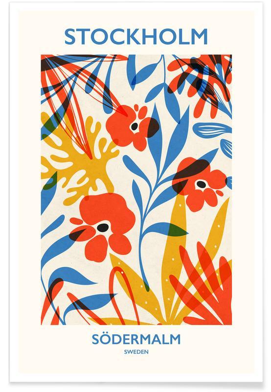 Blätter & Pflanzen, Blumenmarkt, Stockholm, Södermalm -Poster
