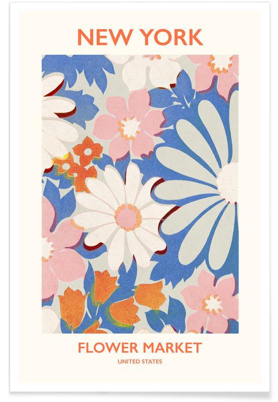 , NY Flower Market Plakat