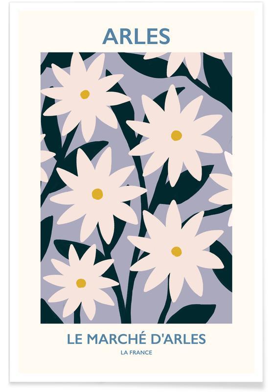 Paris, Blätter & Pflanzen, Blumenmarkt, Arles -Poster