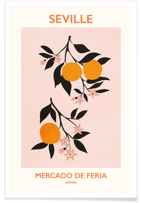 Flower Market, Leaves & Plants, Mercardo di Feria Poster
