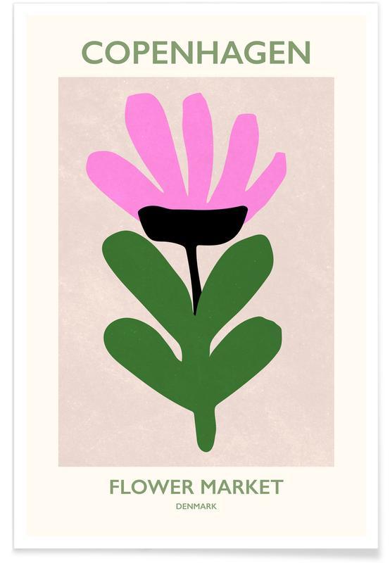 , Flower Market Denmark Poster