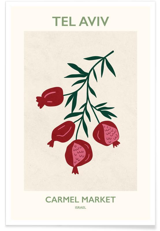Blätter & Pflanzen, Blumenmarkt, Tel Aviv -Poster