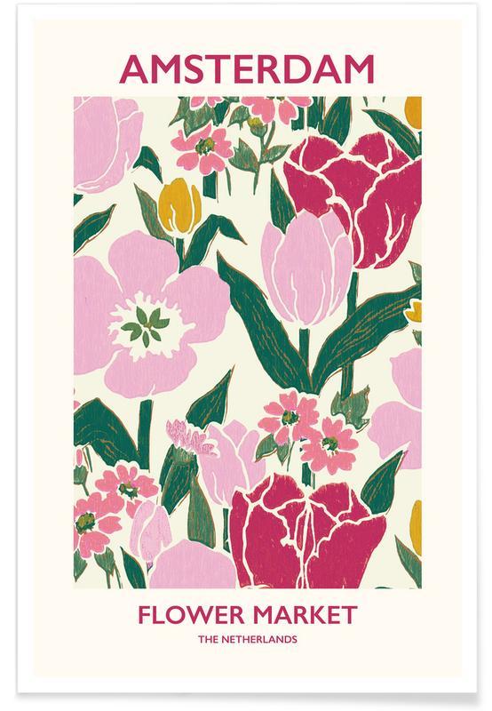 , Amsterdam Flower Market poster