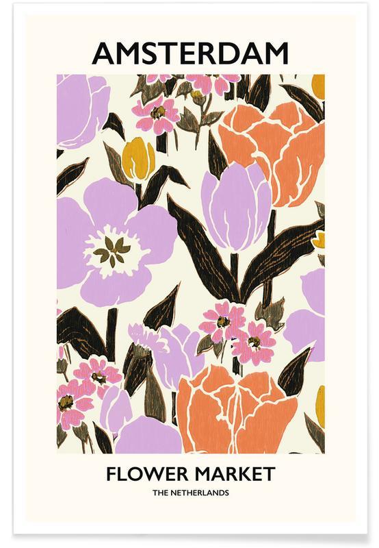 , Amsterdam Flower Market II póster
