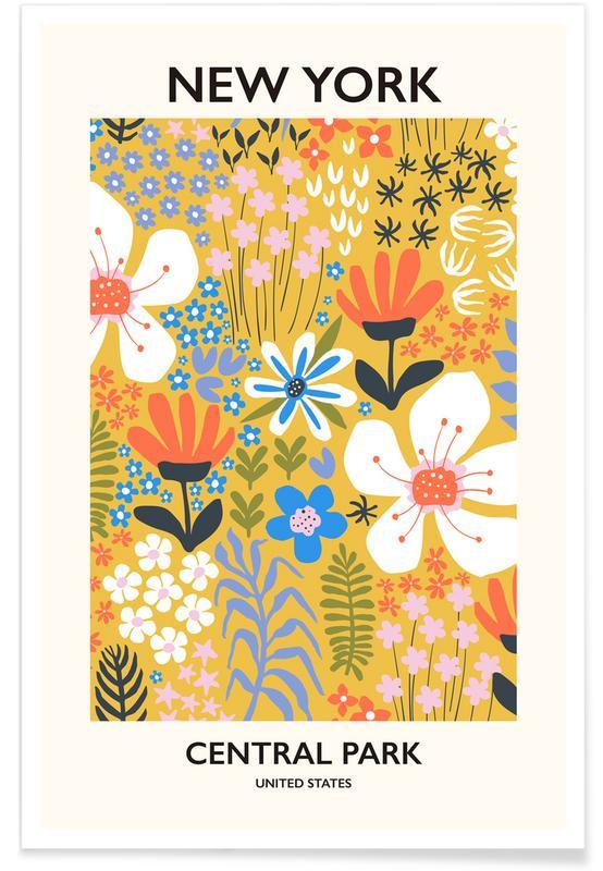 , New York Flower Market II Plakat