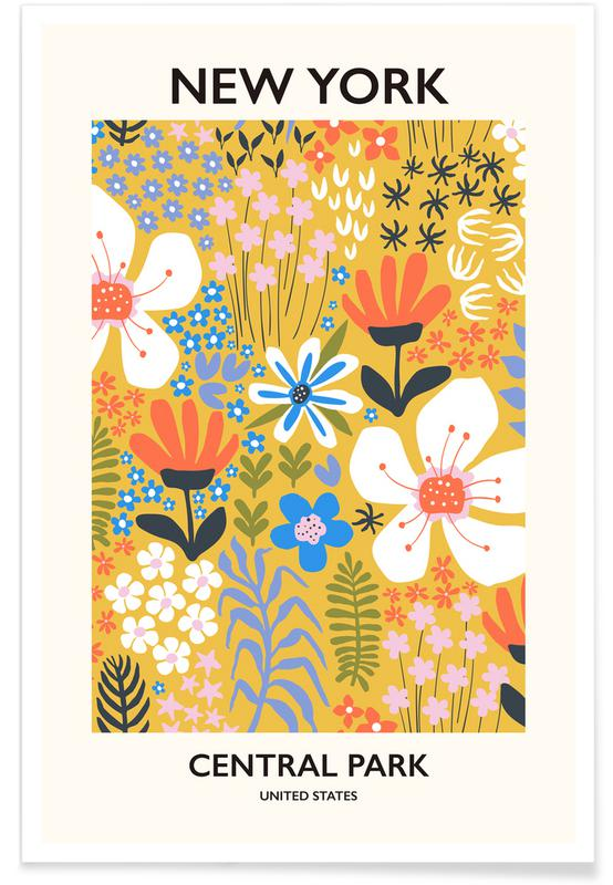 , New York Flower Market II póster
