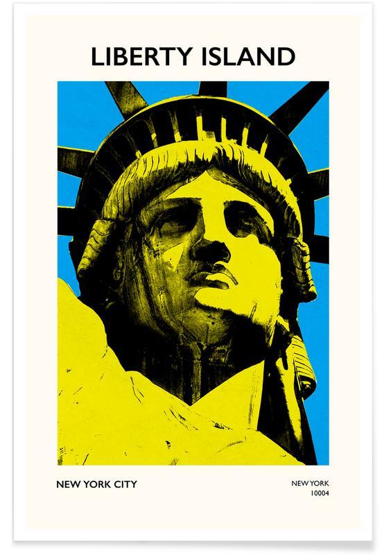 , Liberty Island affiche
