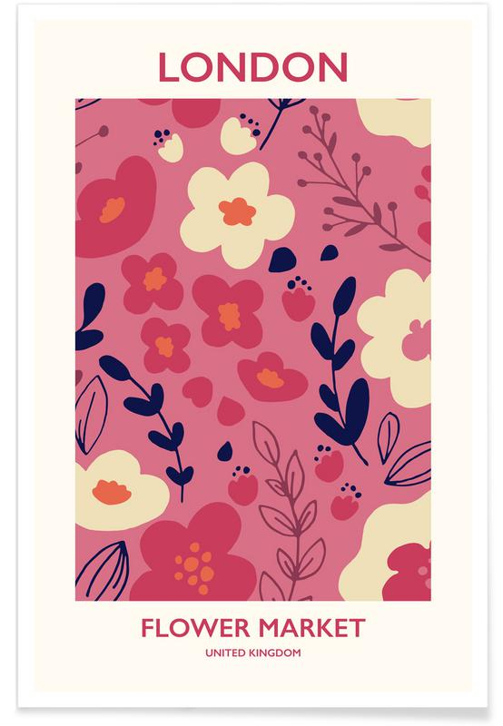 , London Flower Market II poster