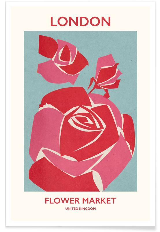 , London Flower Market I -Poster