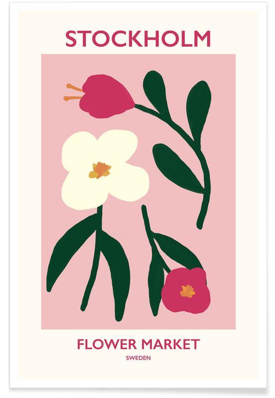 , Stockholm Flower Market -Poster