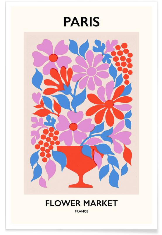 , Paris Flower Market poster