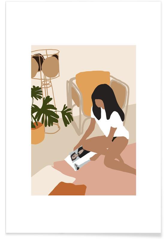 Hojas y plantas, Sunday póster