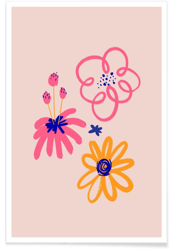 , Neon Floral II affiche