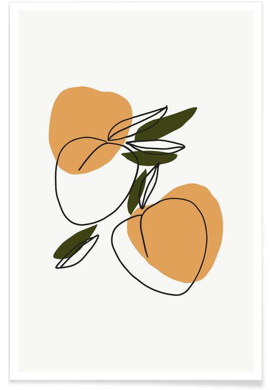 , Peaches Poster