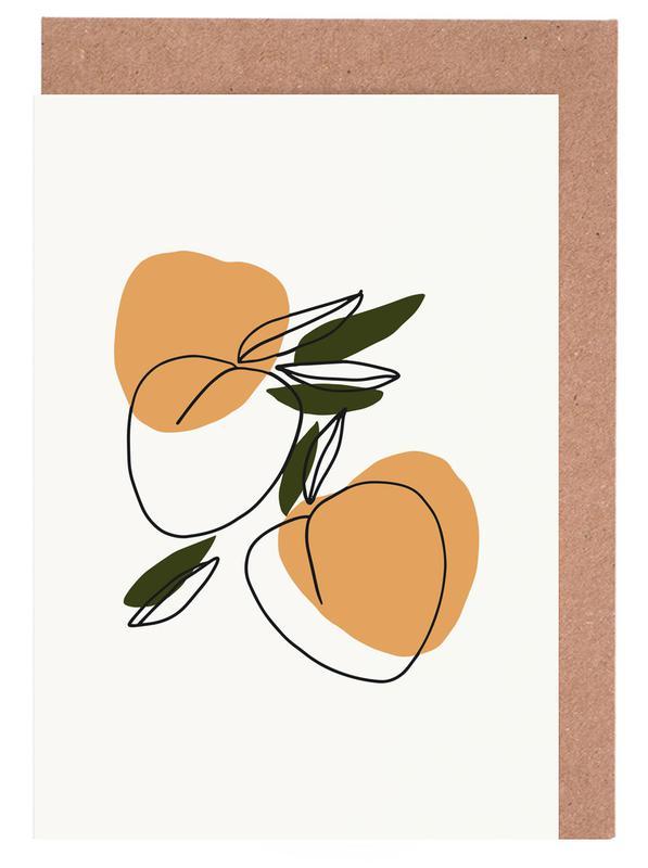 Peaches -Grußkarten-Set