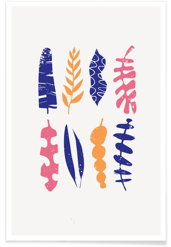 Feuilles & Plantes, Leaves Stacked II affiche