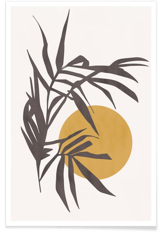 Feuilles & Plantes, Harvest Moon affiche
