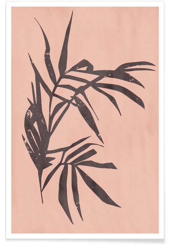 Bladeren en planten, Plant in Blush Light poster