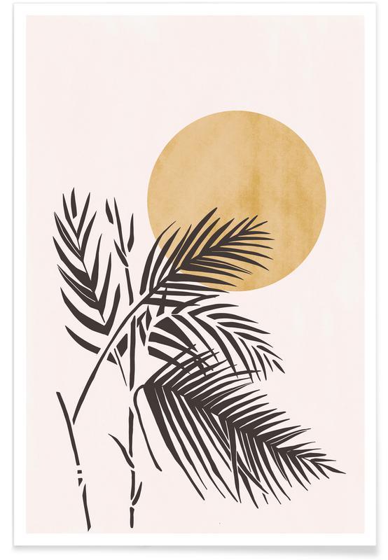 Feuilles & Plantes, Golden Moon affiche