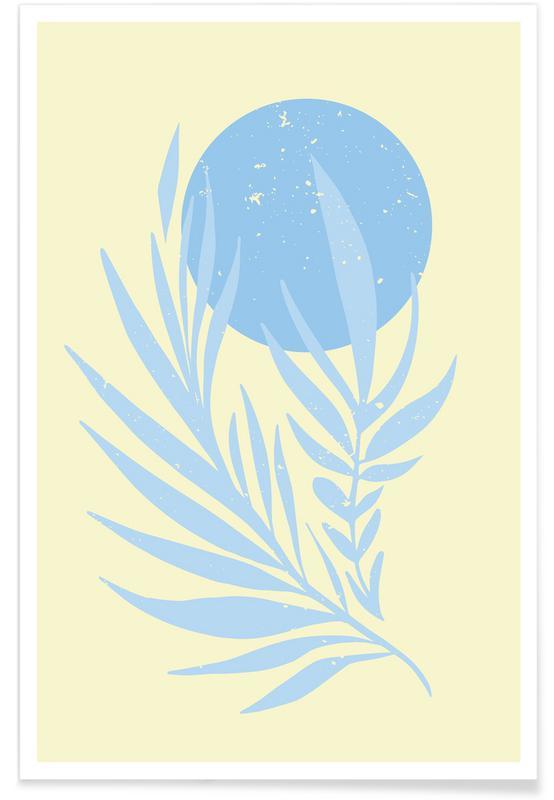 Feuilles & Plantes, Pastel Field II affiche