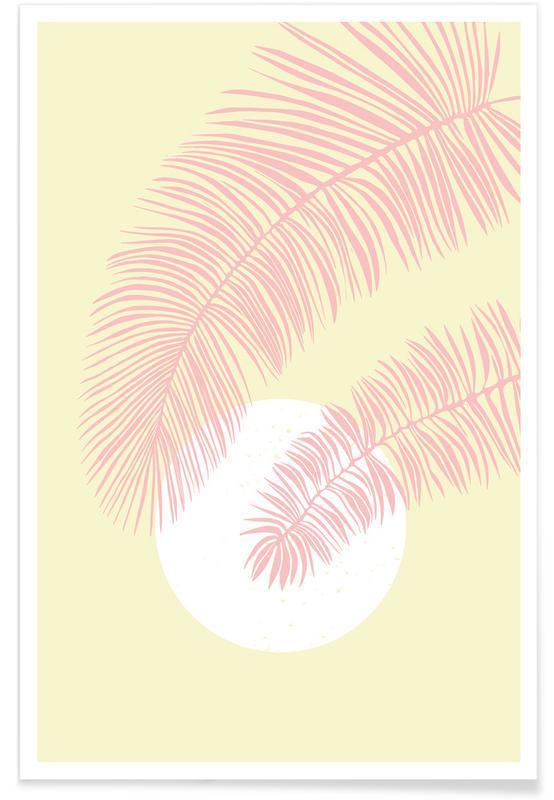 Feuilles & Plantes, Pastel Palm affiche