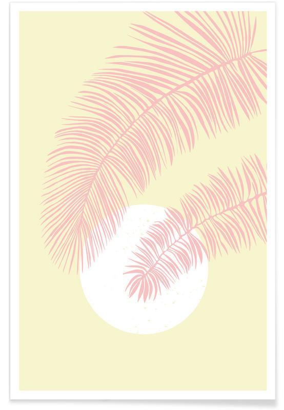 Blätter & Pflanzen, Pastel Palm -Poster