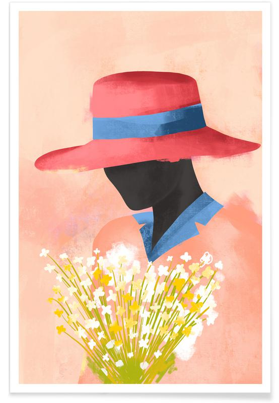 Portraits, Fashion Illustrations, Daises II Poster