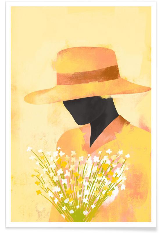 Portraits, Illustrations de mode, Daisies affiche
