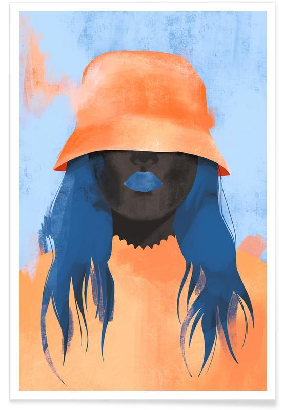 Portraits, Illustrations de mode, Marmalade affiche