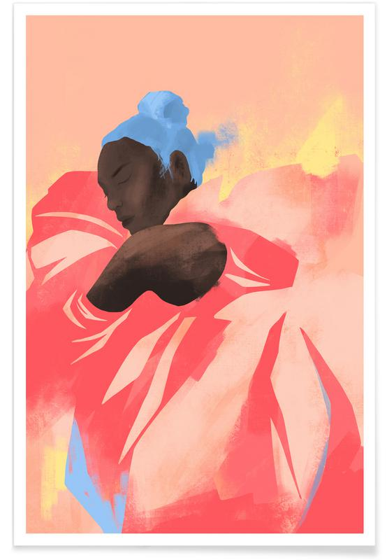 Portraits, Fashion Illustrations, Sunrise Poster
