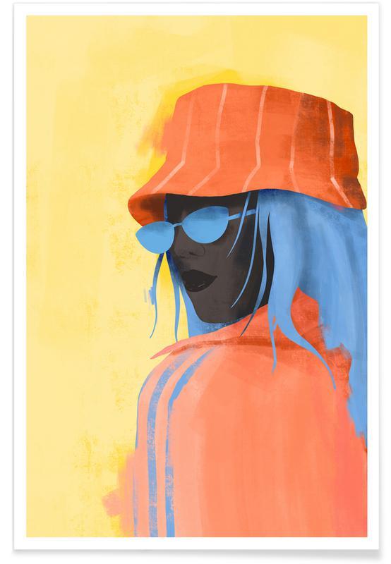 Porträts, Modeillustration, Cadmium -Poster